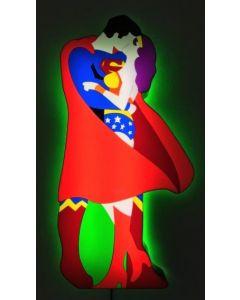 Marco Lodola, Super Love, scatola (scultura) luminosa, 110x53x12cm, 2019