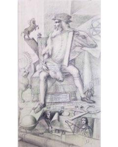 Giancarlo Prandelli, Tavola di Leonardo, matita su tavola, 124x70 cm, (D298)