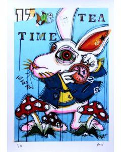 Yux, Tea Time, retouchè, 46x32 cm