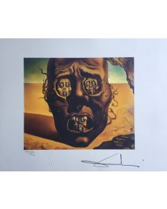 Salvador Dalì, The Visage of War, litografia, 50x65 cm, 1988