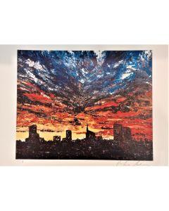 Pier Luca Bencini, The pleading city, stampa ad edizione limitata, 45x32cm firmata e numerata
