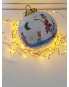 Francesco Musante, La poesia nel Golfo dei sogni colorati, pallina di Natale in porcellana, h 7,5 cm
