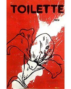 Andrew Tosh, Toilette, acrilico e smalto su carta, 48x33 cm