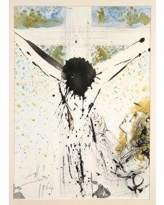 Salvador Dalì, Tolle, tolle, crucifige eum, litografia, 50x39 cm, tratta da La Sacra Bibbia, 1967
