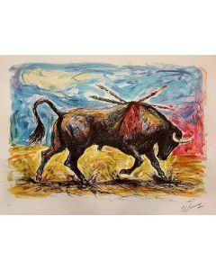 Giovan Francesco Gonzaga, Toro, litografia, 50x70 cm, 1986