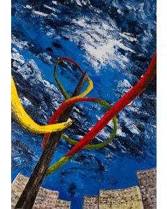 Pier Luca Bencini, Totus tuus, acrilico su tela, 100x60 cm