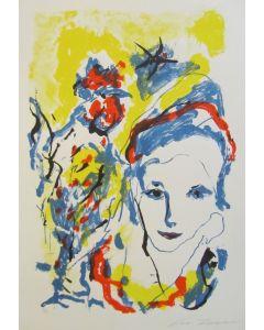 Ernesto Treccani, Volto, serigrafia, 81x60 cm