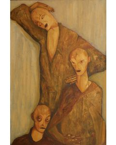 Marino Benigna, Triangolo, olio su tela, 80x120 cm, 2013