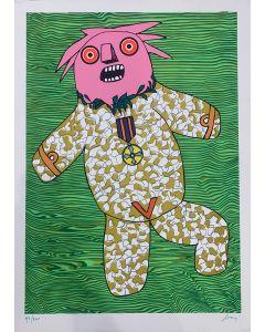 Enrico Baj, Ubu by Baj, serigrafia a colori, 80x60 cm, 1970
