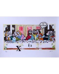 Yux, Prenotato per 13, retouchè, 46x32 cm