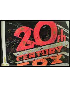 Enrico Manera, 20th Century Fox, Acrilico, smalto, e gessetti su tela, 100x150 cm, 1995