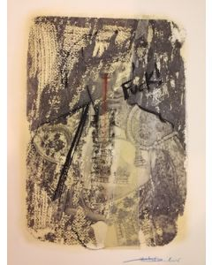 Enrico Pambianchi, Untitled, collage e disegno su carta, 25x36 cm