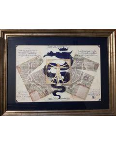 Giancarlo Prandelli, Uomo Vitruviano, inchiostro, matita e stampa su cartoncino, 29,5x 44,5cm (D296)