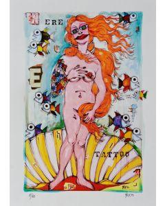Yux, Venere Tattoo, retouchè, 46x32 cm