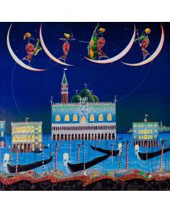 Meloniski da Villacidro, Venezia, tecnica mista su tela, 80x80 cm