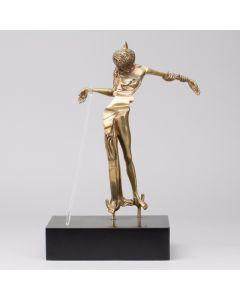 Salvador Dalì, Venus a la tete de Roses, scultura in bronzo patinato - fusione a cera persa con illuminazione, 42x25,5x17 cm, 1980-81