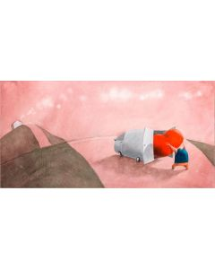 Diego Santini, Per questo viaggio porto solo il cuore, Giclée art print ritoccata a mano, 70x40  cm