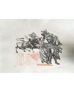 Walter Cremonini, Mitologia Contemporanea, acquaforte a colori, 50x70 cm, 100 su 100