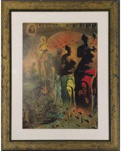 Salvador Dalì, Il torero allucinogeno, stampa, 68x52,5 cm (con cornice)