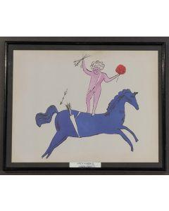 Andy Warhol, Cherub and Horse, stampa, 25x 31cm (con cornice)