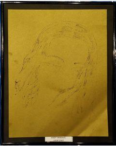 Andy Warhol, Ritratto, stampa, 25x31 cm (con cornice)