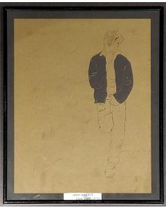 Andy Warhol, Ritratto di un ragazzo, stampa, 25x31 cm (con cornice)