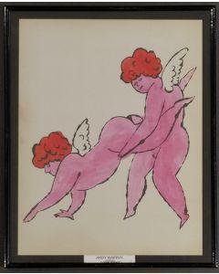 Andy Warhol, Cherubini, stampa, 25x 31cm (con cornice)