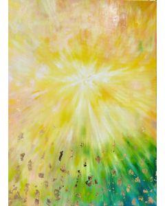 Francesco Cerutti, La vita è un'energia misteriosa, tecnica mista, 50x70 cm