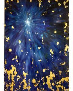 Francesco Cerutti, Luce luce per l'anima, tecnica mista, 50x70 cm