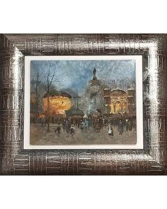 Scuola Impressionista, Parigi, olio su tavola, 35x40 cm (con cornice)