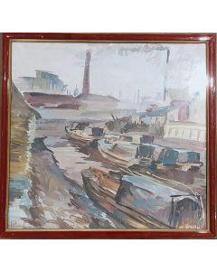 Anonimo, Porto, tempera su carta, 31,5x30 cm (con cornice)