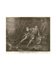 William Hogarth, Mr. Garrick in the character of Richard III acquaforte, 48x59 cm