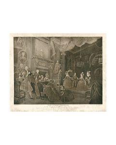 William Hogarth, The indian emperor, acquaforte, 62x50 cm
