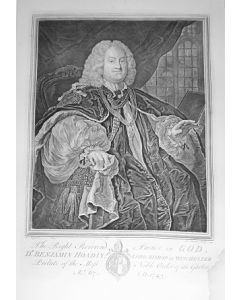 William Hogarth, Dr. Benjamin Hoadly, Lord Bishop of Winchester, acquaforte, 48x63 cm