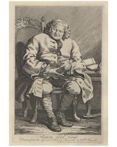 William Hogarth, Simon Lord Lovat, acquaforte, 35x47 cm