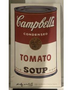 Zuppa Campbell's, stampa su tavola di legno, 51x87 cm