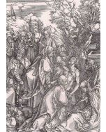 Albrecht Dürer, Il seppellimento, xilografia, 38,7x27,5 cm