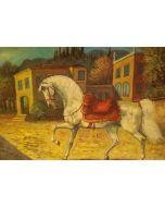 Giovan Francesco Gonzaga, Senza titolo, acquaforte a 8 colori, 60x80 cm