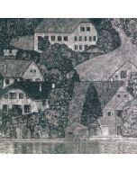 "Gustav Klimt, Casa sull'Attersee, collotipia su carta, 30x32 cm, 1931, tratta dal libro ""Gustav Klimt. Eine Nachsele"" di G.Klimt e M.Eisler"