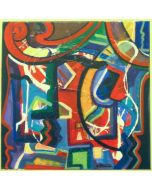 Carlo Massimo Franchi, Kalos Yellow,  olio su tela, 50x50 cm