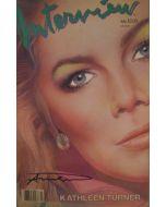 Andy Warhol, Interview – July 1985, rivista con copertina firmata dall'artista, 42,5x27,5 cm
