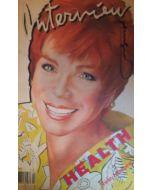 Andy Warhol, Interview – April 1985, rivista con copertina firmata dall'artista, 42,5x27,5 cm