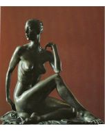Kossuth Wolfgang Alexander, Ragazza seduta, bronzo, h 33 cm, 1998