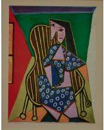 Pablo Picasso, Femme assise, litografia, 28x21 cm