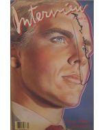 Andy Warhol, Interview - January 1986, rivista con copertina firmata dall'artista, 42,5x27,5 cm
