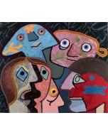 Enrico Baj, Senza Titolo, serigrafia su tessuto, 70x100 cm