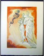 Salvador Dalì, La frode, xilografia, 26x33 cm, tratta da La Divina Commedia, 1951-60