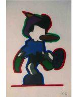 Marco Lodola, Pinocchio, serigrafia ritoccata a mano, 70x50 cm