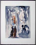 Salvador Dalì, La perfezione originaria, xilografia, 26x33 cm, tratta da La Divina Commedia, 1951-60