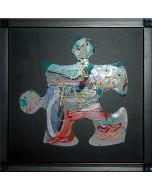 Carlo Massimo Franchi, Kalos Light, tecnica mista, 28,5x28,5x13 cm